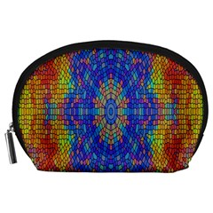 A Creative Colorful Backgroun Accessory Pouches (Large)