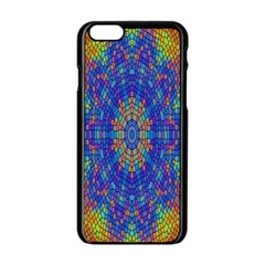 A Creative Colorful Backgroun Apple iPhone 6/6S Black Enamel Case