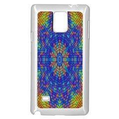 A Creative Colorful Backgroun Samsung Galaxy Note 4 Case (white)