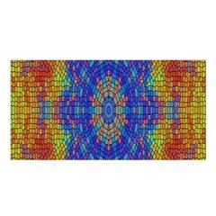A Creative Colorful Backgroun Satin Shawl