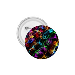 Rainbow Ribbon Swirls Digitally Created Colourful 1 75  Buttons