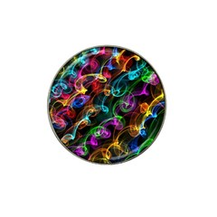 Rainbow Ribbon Swirls Digitally Created Colourful Hat Clip Ball Marker