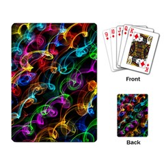 Rainbow Ribbon Swirls Digitally Created Colourful Playing Card