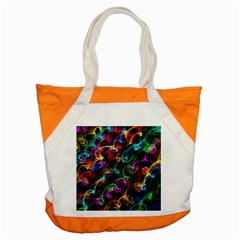 Rainbow Ribbon Swirls Digitally Created Colourful Accent Tote Bag