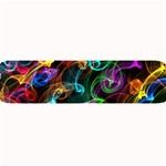 Rainbow Ribbon Swirls Digitally Created Colourful Large Bar Mats 34 x9.03 Bar Mat - 1