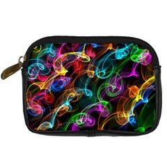 Rainbow Ribbon Swirls Digitally Created Colourful Digital Camera Cases