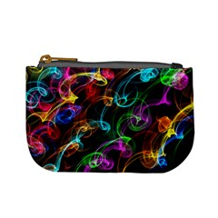 Rainbow Ribbon Swirls Digitally Created Colourful Mini Coin Purses