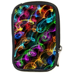 Rainbow Ribbon Swirls Digitally Created Colourful Compact Camera Cases