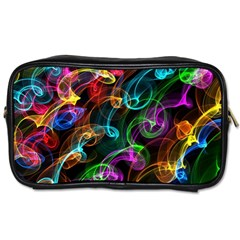 Rainbow Ribbon Swirls Digitally Created Colourful Toiletries Bags