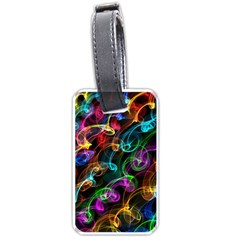 Rainbow Ribbon Swirls Digitally Created Colourful Luggage Tags (two Sides)