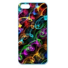 Rainbow Ribbon Swirls Digitally Created Colourful Apple Seamless iPhone 5 Case (Color)