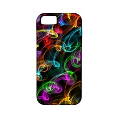 Rainbow Ribbon Swirls Digitally Created Colourful Apple Iphone 5 Classic Hardshell Case (pc+silicone)