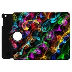 Rainbow Ribbon Swirls Digitally Created Colourful Apple Ipad Mini Flip 360 Case