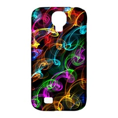 Rainbow Ribbon Swirls Digitally Created Colourful Samsung Galaxy S4 Classic Hardshell Case (pc+silicone)