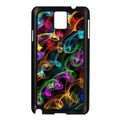 Rainbow Ribbon Swirls Digitally Created Colourful Samsung Galaxy Note 3 N9005 Case (black)