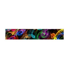 Rainbow Ribbon Swirls Digitally Created Colourful Flano Scarf (Mini)