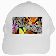 Abstract Pattern Texture White Cap