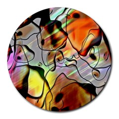 Abstract Pattern Texture Round Mousepads