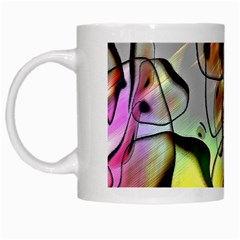 Abstract Pattern Texture White Mugs