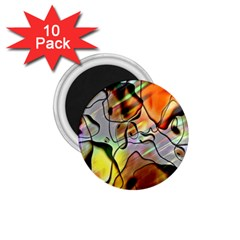 Abstract Pattern Texture 1.75  Magnets (10 pack)