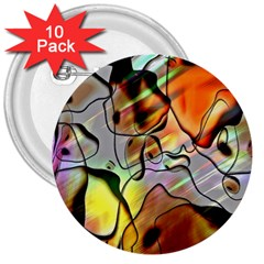 Abstract Pattern Texture 3  Buttons (10 Pack)