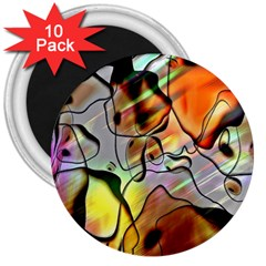 Abstract Pattern Texture 3  Magnets (10 pack)