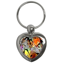 Abstract Pattern Texture Key Chains (Heart)