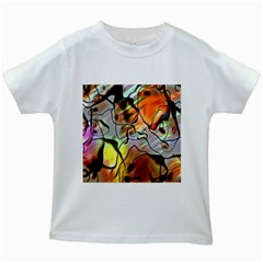 Abstract Pattern Texture Kids White T Shirts