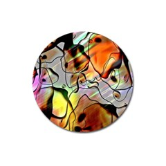 Abstract Pattern Texture Magnet 3  (round)