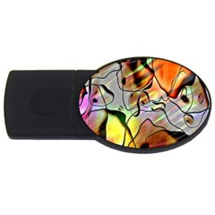 Abstract Pattern Texture USB Flash Drive Oval (4 GB)