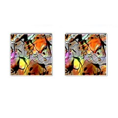 Abstract Pattern Texture Cufflinks (square)