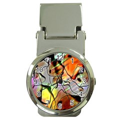 Abstract Pattern Texture Money Clip Watches