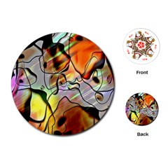 Abstract Pattern Texture Playing Cards (Round)
