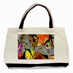 Abstract Pattern Texture Basic Tote Bag