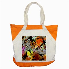 Abstract Pattern Texture Accent Tote Bag