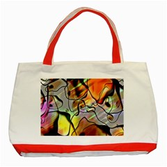 Abstract Pattern Texture Classic Tote Bag (Red)