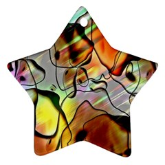 Abstract Pattern Texture Star Ornament (Two Sides)