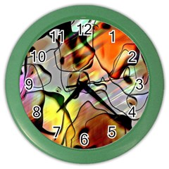 Abstract Pattern Texture Color Wall Clocks