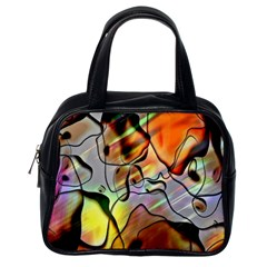 Abstract Pattern Texture Classic Handbags (one Side)