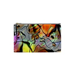 Abstract Pattern Texture Cosmetic Bag (Small)