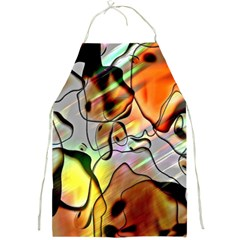 Abstract Pattern Texture Full Print Aprons