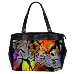 Abstract Pattern Texture Office Handbags