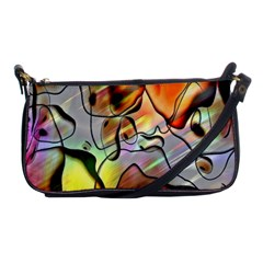 Abstract Pattern Texture Shoulder Clutch Bags