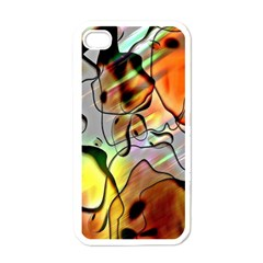 Abstract Pattern Texture Apple iPhone 4 Case (White)