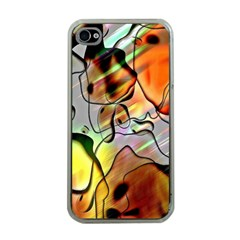 Abstract Pattern Texture Apple Iphone 4 Case (clear)