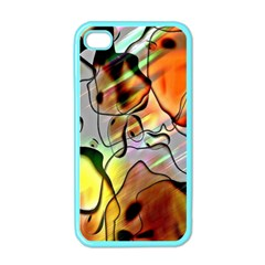 Abstract Pattern Texture Apple Iphone 4 Case (color)