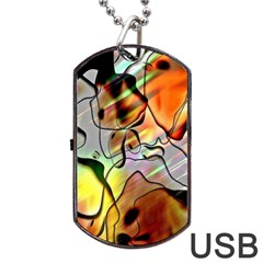 Abstract Pattern Texture Dog Tag USB Flash (Two Sides)
