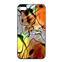 Abstract Pattern Texture Apple Iphone 4/4s Seamless Case (black)
