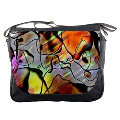Abstract Pattern Texture Messenger Bags