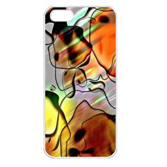 Abstract Pattern Texture Apple Iphone 5 Seamless Case (white)